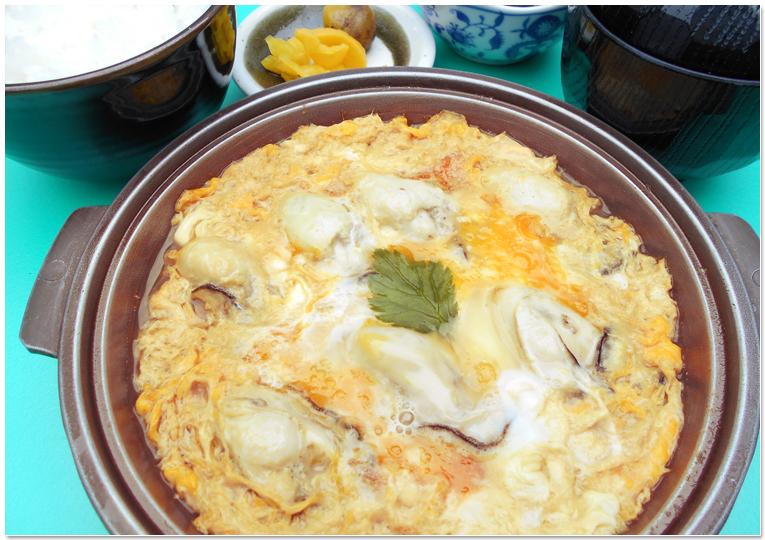 カキの卵とじ定食