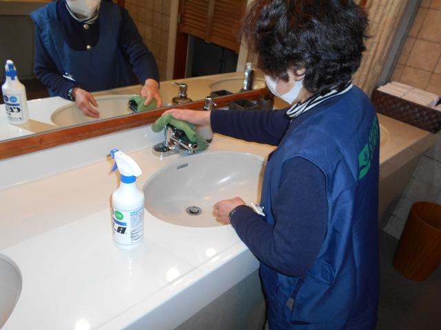 洗面台除菌